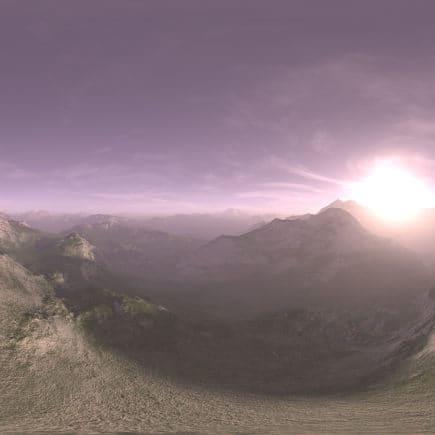 Morning Desert Mountains HDRI Sky