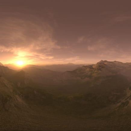 Late Evening Desert Mountains HDRI Sky