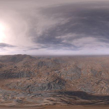 Late Afternoon Desert HDRI Sky