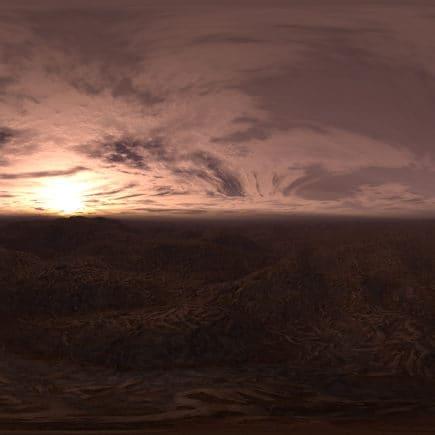 Late Evening Desert HDRI Sky