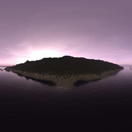 Early Morning Ocean Island HDRI Sky