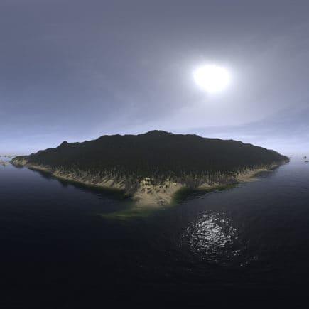 Before Noon Ocean Island HDRI Sky