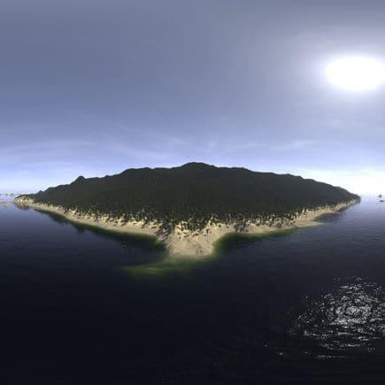 Noon Ocean Island HDRI Sky