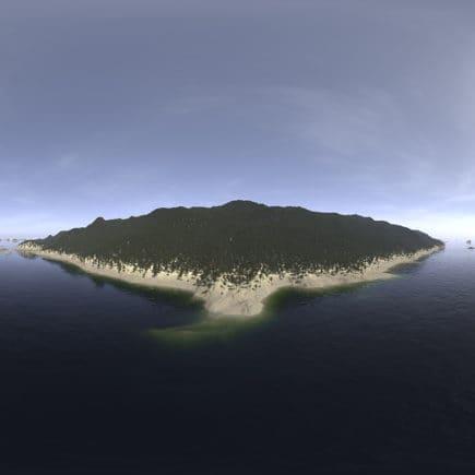 Afternoon Ocean Island HDRI Sky