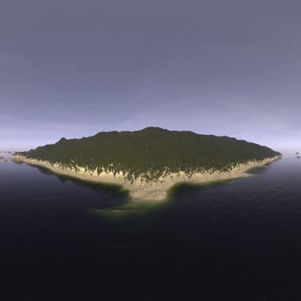 Late Afternoon Ocean Island HDRI Sky