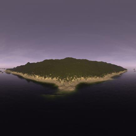 Early Evening Ocean Island HDRI Sky