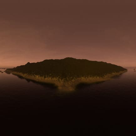 Late Evening Ocean Island HDRI Sky