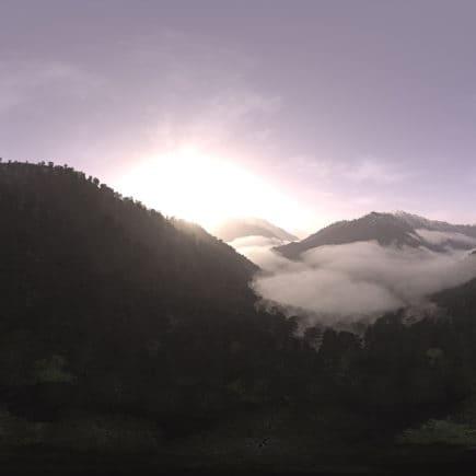 Morning Mountain Forest HDRI Sky