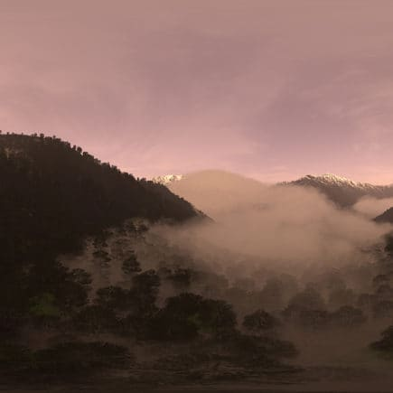 Evening Mountain Forest HDRI Sky