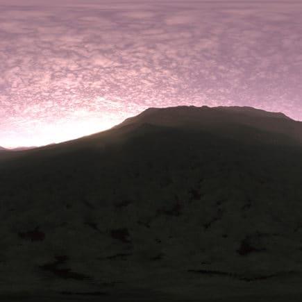 Early Morning Hill HDRI Sky