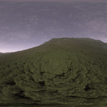 Early Evening Hill HDRI Sky