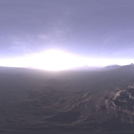 Morning Tundra HDRI Sky