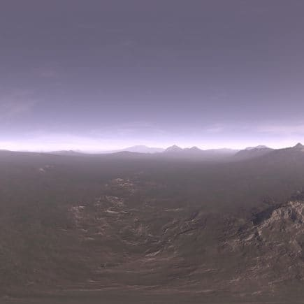 Late Afternoon Tundra HDRI Sky