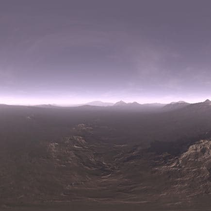 Early Evening Tundra HDRI Sky