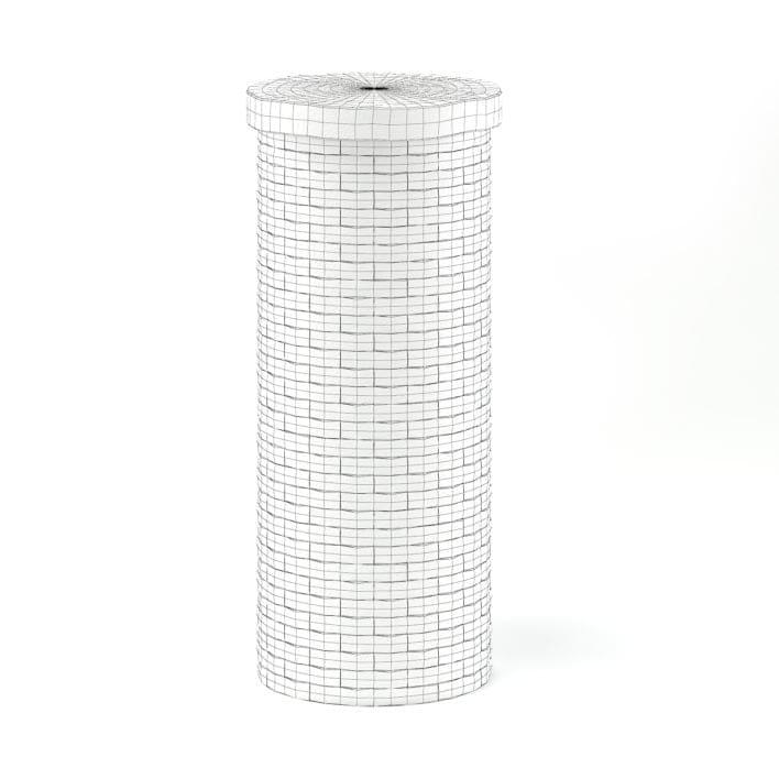 Brick Pillar 3D Model