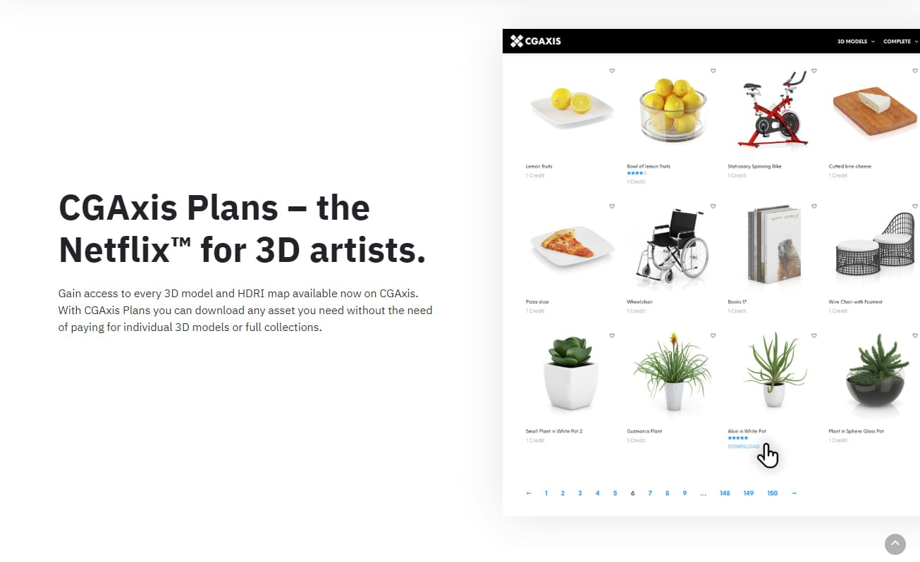 download 3d models cgaxis plans