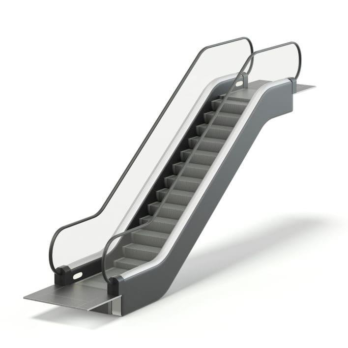 Short Escalator 3D Model