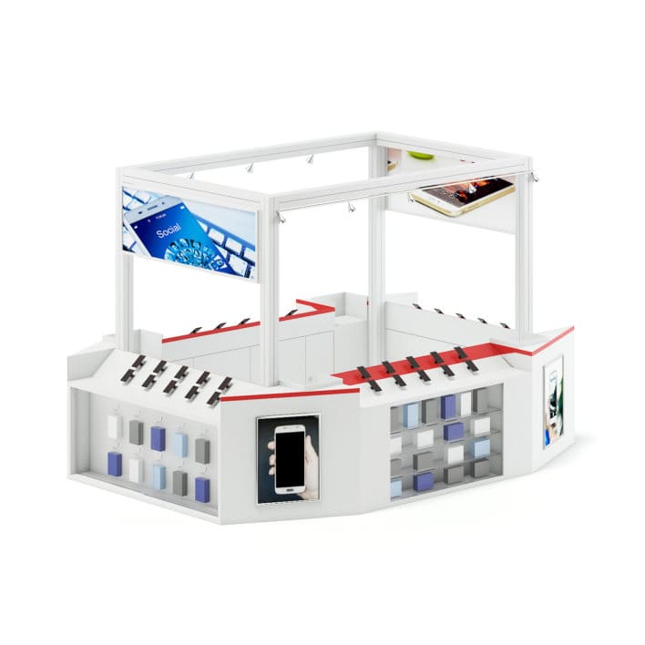 Phone Stall 3D Model