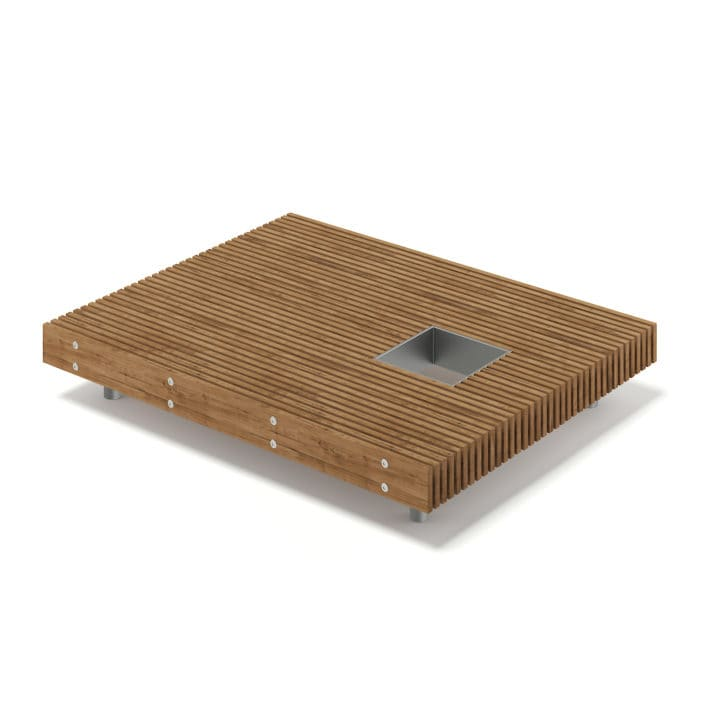 Wooden Mall Bench 3D Model