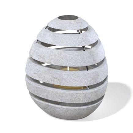 Rock Shaped Lantern 3D Model