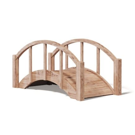 Small Wooden Bridge 3D Model