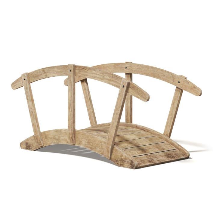 Small Wooden Bridge 3D Model