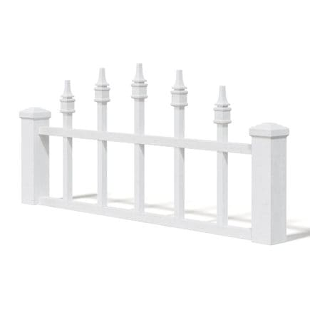 White Wooden Fence 3D Model