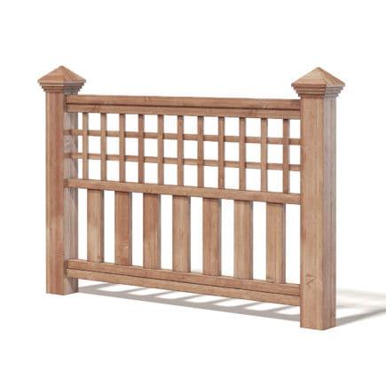 Wooden Fence 3D Model