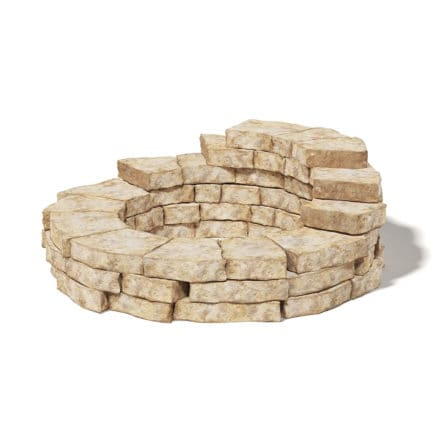 Round Stone Wall 3D Model