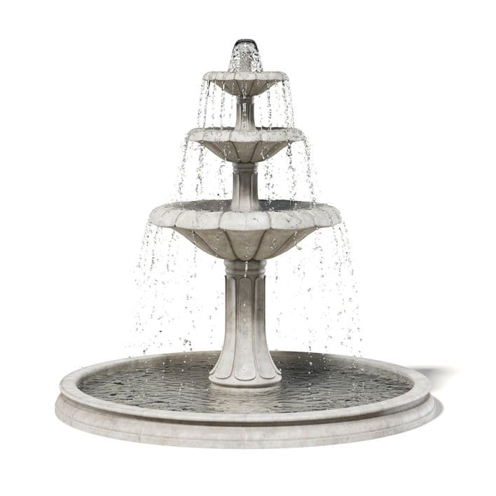 Large Fountain 3D Model