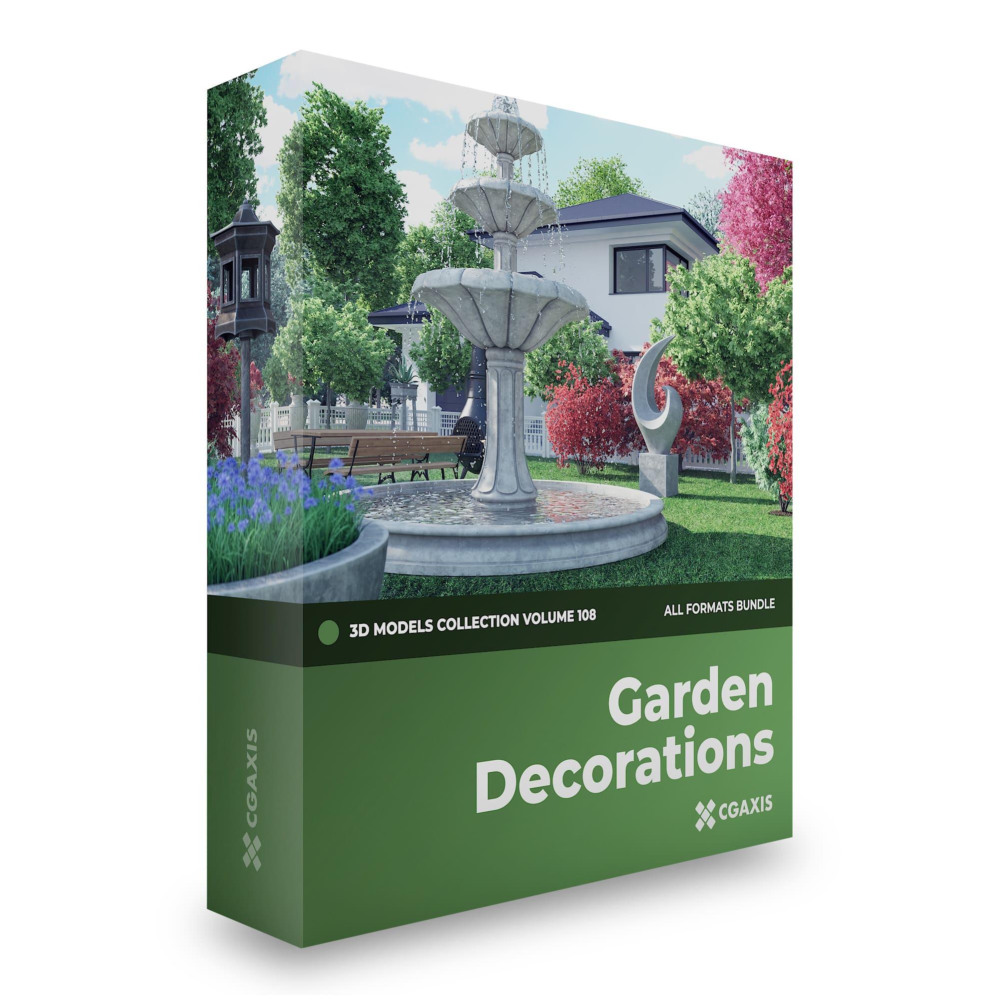 Garden Decorations 3d Models Volume 108 Cgaxis 3d Models Store