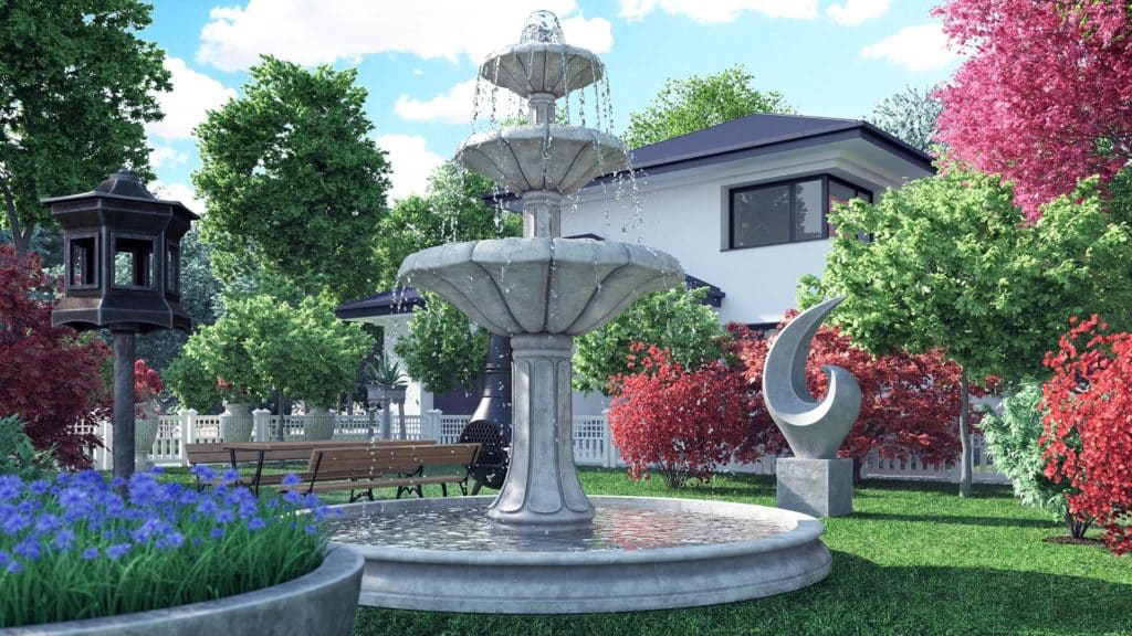 garden decorations 3d models