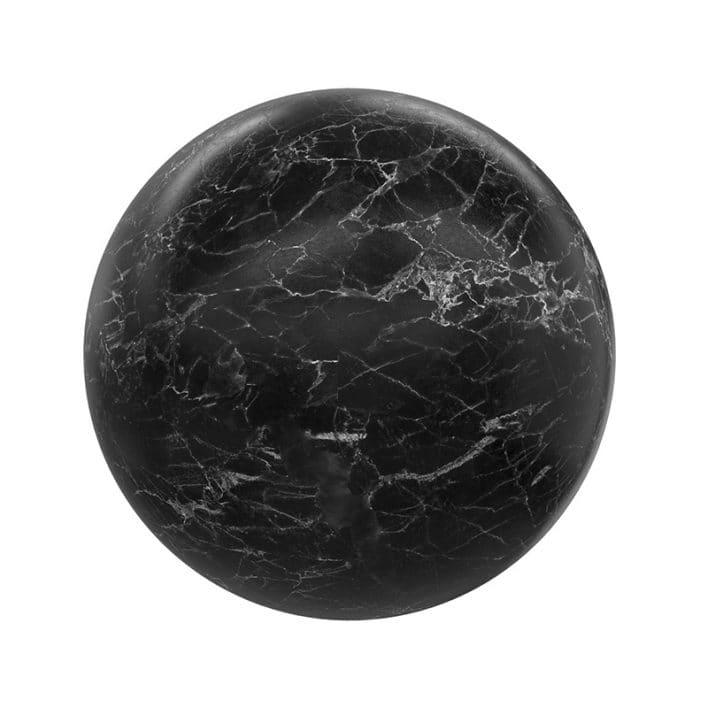 Black Marble PBR Texture