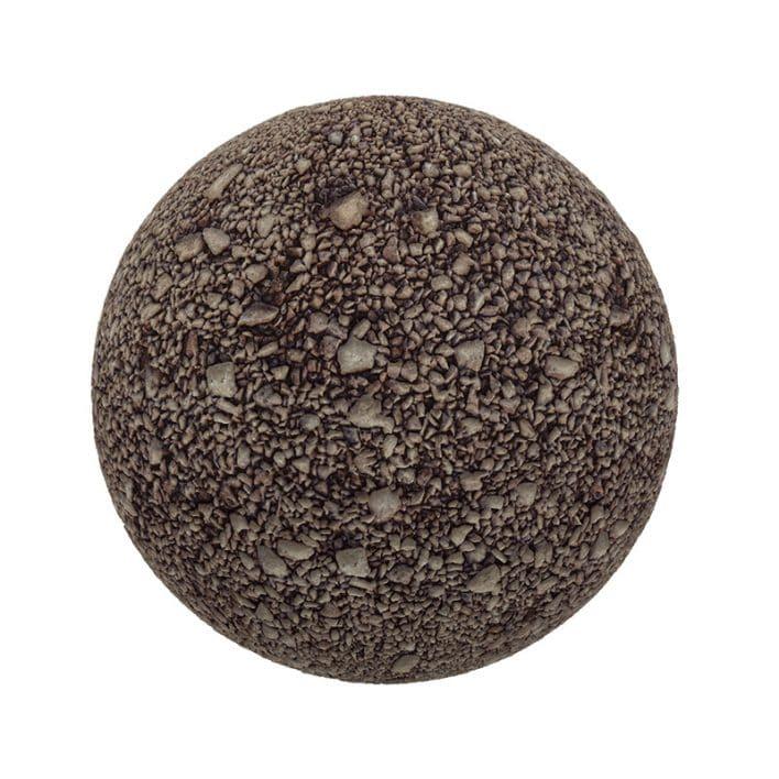 Brown Gravel PBR Texture