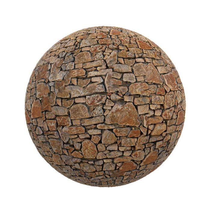 Brown Stone Pavement PBR Texture