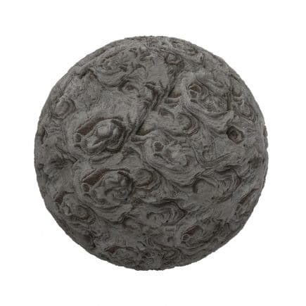 Dark Chaotic Stone PBR Texture