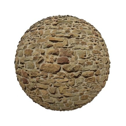 Irregular Stone Pavement PBR Texture