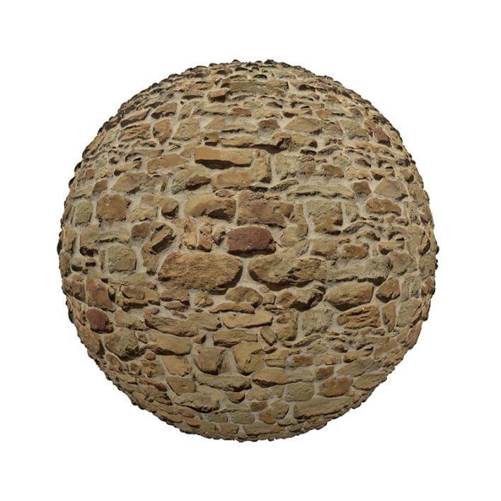 Irregular Stone Pavement PBR Texture