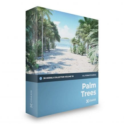 palm trees 3d models collection