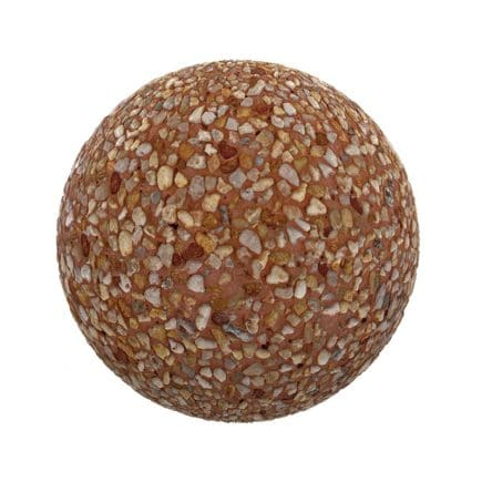 Pebbles in Orange Dirt PBR Texture