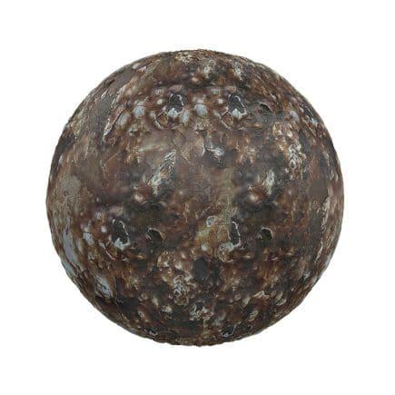 Rough Brown Stone PBR Texture