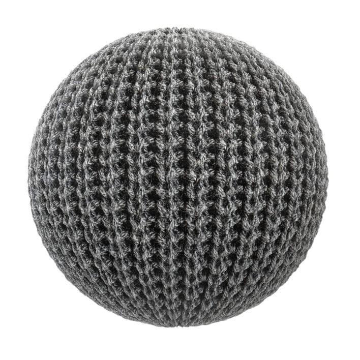 Black Wool Fabric PBR Texture