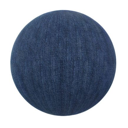 Blue Jeans Fabric PBR Texture