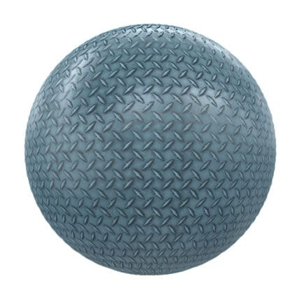 Blue Patterned Metal PBR Texture