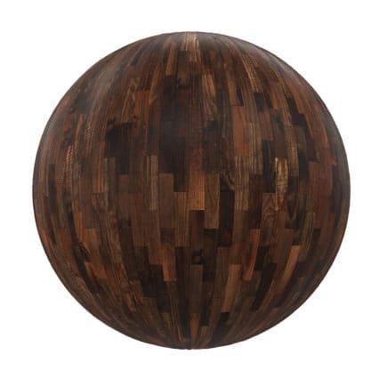 Dark Old Wood Tiles PBR Texture