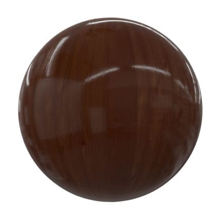 Dark Shiny Wood PBR Texture