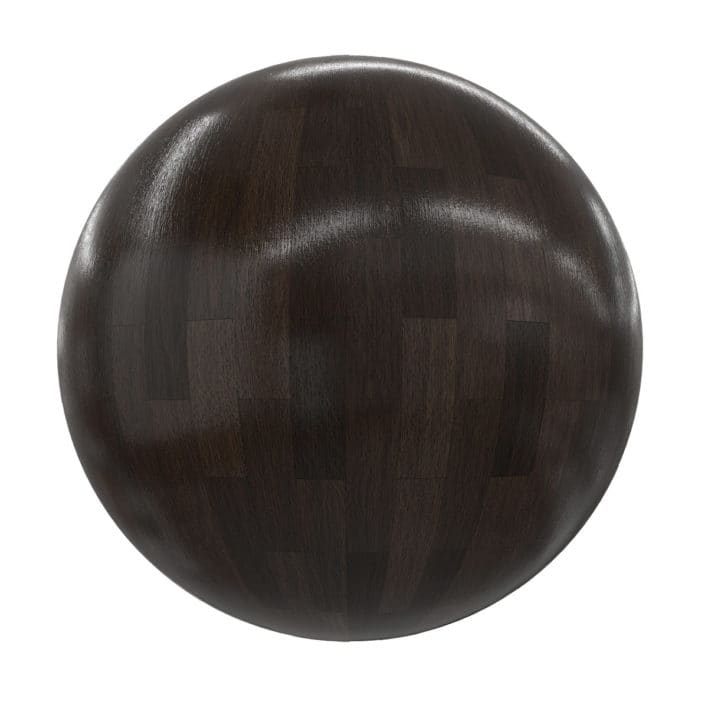 Dark Shiny Old Wood Tiles PBR Texture