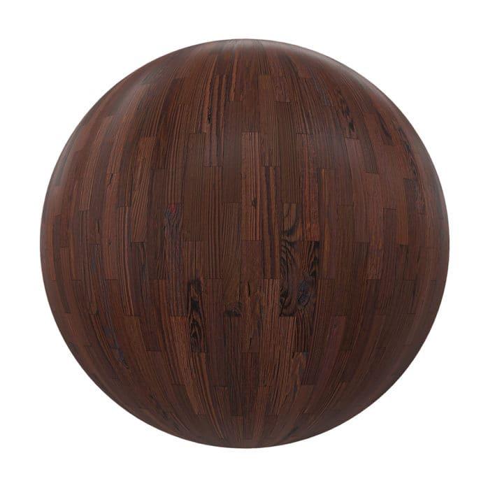Dark Wood Tiles PBR Texture