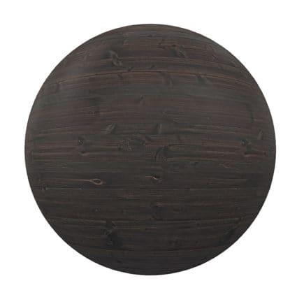Dark Wooden Planks PBR Texture