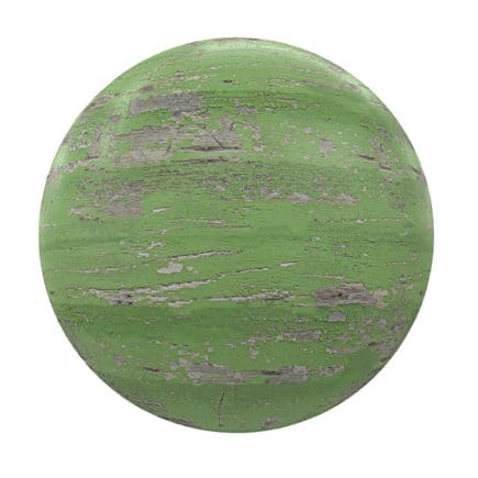 Green Painted Old Wood PBR Texture